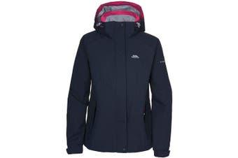 (X-Small, Black) - Trespass Florrisant Womens Waterproof Jacket with Inner Pocket