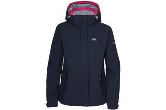 (X-Small, Grape Wine) - Trespass Florrisant Womens Waterproof Jacket with Inner Pocket