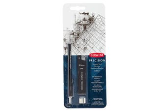 Derwent 0.5 mm Precision Mechanical Pencil, HB Leads and Erasers Included, Professional Quality, 2302428