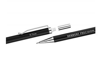 (0.7 mm, Pencil, Single) - Derwent 0.7 mm Precision Mechanical Pencil, HB Leads and Erasers Included, Professional Quality, 2302429