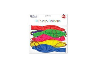 (6 PACKPUNCH BALLONS) - ALANNAHS ACCESSORIES Party Bag Loot Fillers Children Kids Birthday Party Toys Gifts Prizes
