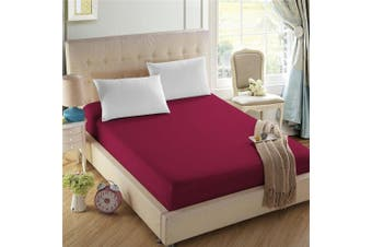 (Queen, Cardinal Red) - 4U Life Bedding Fitted sheet-Prime 1800 Series , Double Brushed Microfiber,Ultra-soft Feel And Wrinkle,Fade Free , Deep Pocket For Oversized Mattress, Queen, Cardinal Red