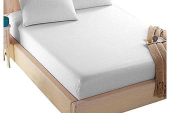 (Queen, White) - 4U Life Bedding Fitted sheet-Prime 1800 Series , Double Brushed Microfiber,Ultra-soft Feel And Wrinkle,Fade Free , Deep Pocket For Oversized Mattress,Queen, White