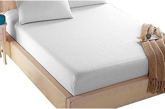 (King, White) - 4U Life Bedding Fitted sheet-Prime 1800 Series , Double Brushed Microfiber,Ultra-soft Feel And Wrinkle,Fade Free , Deep Pocket For Oversized Mattress, King, White