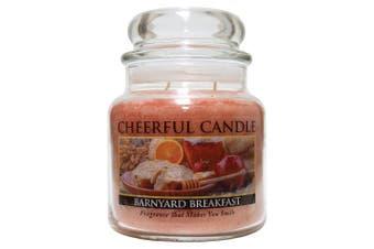A Cheerful Giver 470ml Barnyard Breakfast Jar Candle, Orange