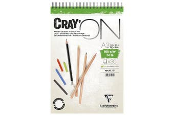 Cray'On White Sketch Pad, Wirebound, 160g, A3, 50 sheets