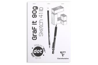 Graf It White Sketch Pad, 90g, A5, 80 Sheets, Dot Grid - White Cover