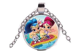 WISH SHIMMER, SHINE AND FRIENDS SILVER NECKLACE
