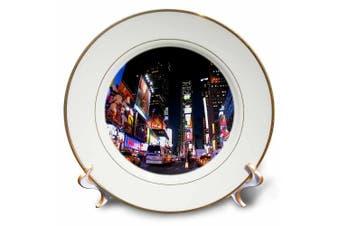 3dRose LLC New York City Times Square 20cm Porcelain Plate