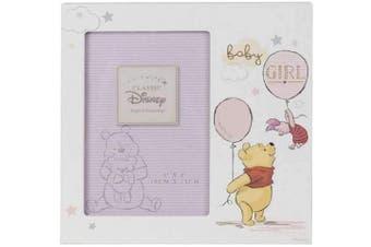 (Pooh Baby Girl) - Disney Magical Beginnings MDF 10cm x 15cm Photo Frame Pooh Baby Girl DI415