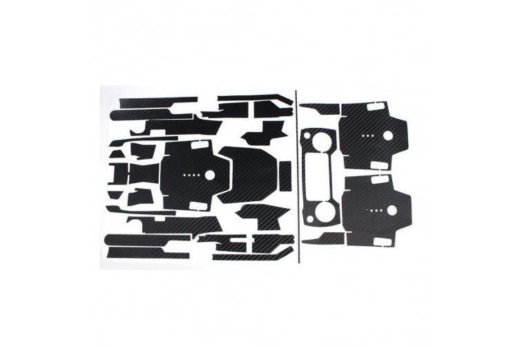 (Black) - erthome Multicolor Luxury Carbon Fibre Skin Wrap Waterproof Stickers For DJI Mavic Pro Accessories (black)