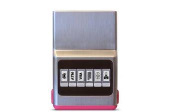 (One Size, Pink) - Credit Card Holder Money Clip - ACM Wallet Minimalist Front Pocket, Slim Case Men & Women - Pink Hybrid