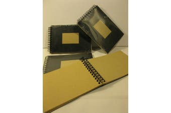 (A6) - Clairefontaine Kraft Wirebound Pad, 90g, 10.5x14.8cm, 60 Sheets - Black Cover