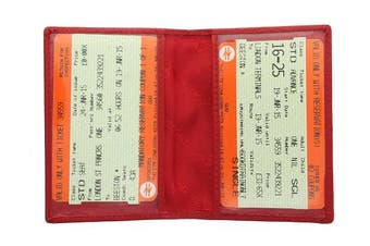 (Red) - Visconti Leather Oyster Card / Travel Pass Holder TC1TC Red