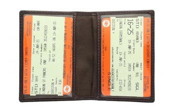 (Chocolate) - Visconti Leather Oyster Card / Travel Pass Holder TC1TC Chocolate