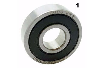 One (1) 6000-2RS Sealed Bearing 10x26x8 Ball Bearing / Pre-Lubricated