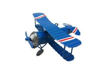 Handmade Vintage Retro Handicraft Models Biplane Aeroplane Decoration Ornament Come With Pretty Metal Box