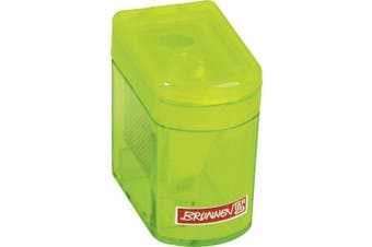 (4 x 2.5 x 3.7 cm, grün) - Brunnen Colour Code, 4 x 2.5 x 3.7 cm, 102983852 Sharpener Klicki with Dust Cap) Double Sharpener Green/Kiwi