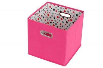 (Pink) - Sukima Decor Cube Storage, Fabric, Pink, 29 x 29 cm