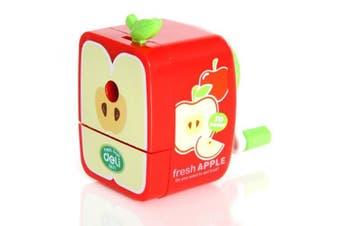Kids Lovely Durable London Bus/Fruit Model Pencil Sharpeners for Children Boys Girls-Apple Sharpener