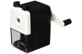 Dahle 00101-02034 Rotary Pencil Sharpener Machine for Pencil Diameters up to 8 mm Black / White