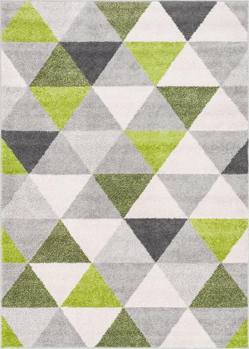 Picture of: 50cm X 80cm Green Isometry Green Grey Modern Geometric Triangle Pattern Area Rug Soft Shed Free 20 X 31 50cm X 80cm Easy To Clean Stain Resistant Matt Blatt