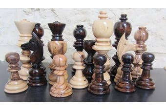 (Large) - Handcarved Holy Land Olive Wood Chess Game Playing Pieces by Bethlehem Gifts TM (Large)