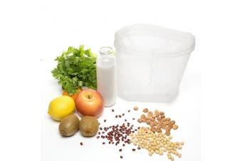 BESTOMZ Nut Milk Bag - Cheesecloth and Food Strainer - Almond Milk, Juice, Cottage Cheese, Greek Yoghurt Maker - Durable Reusable Bag - Fine Mesh Nylon