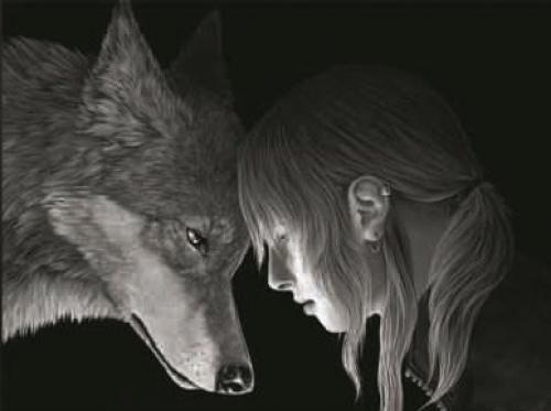 WOLF CONNECTION 3D UNFRAMED Holographic Wall Art-Lenticular Technology Causes To