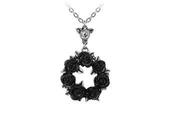 (Black) - Alchemy Gothic Ring O Roses Pendant Necklace