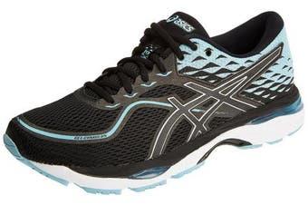 (4 UK, Black (Black/Porcelain Blue/White 9014)) - Asics Women's Gel-Cumulus 19 Running Shoes
