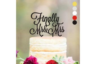 (width 13cm , Silver Mirror) - Cake topper Wedding, Cake toppers, Finally Mr & Mrs, Wedding Dacorations, Wedding Decor, Gold Wediing Anniversary Cake Toppers, Finally Mr and Mrs, HappyPlywood (width 13cm , silver mirror)