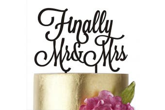 (width 15cm , Silver Mirror) - Cake topper Wedding, Cake toppers, Finally Mr & Mrs, Wedding Dacorations, Wedding Decor, Gold Wediing Anniversary Cake Toppers, Finally Mr and Mrs, HappyPlywood (width 15cm , silver mirror)