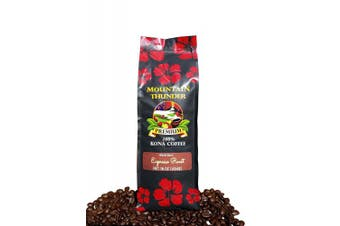 (Espresso Roast - Whole Beans, 470ml) - 100% Kona Coffee Espresso Roast - 0.5kg Premium Gourmet Whole Bean by Mountain Thunder Coffee Plantation
