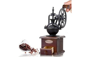 (Coffee Grinder) - Cosy-YcY Wooden Manual Coffee Grinder Coffee Bean Spice Vintage Style Coffee Mill Drawer and Ceramic Grinding Core Coffee Mill (Coffee Grinder)