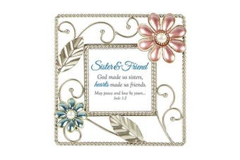 (Sister and Friend, Scripture) - CB Gift LoveLea Ladies Sister And Friend Metal Gift Frame