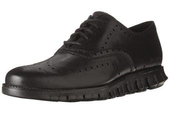 (8 UK, Black Closed Hole/Black) - Cole Haan Men's Zerogrand Wing Ox Leather Oxford