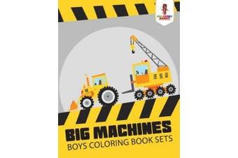 Big Machines: Boys Coloring Book Sets
