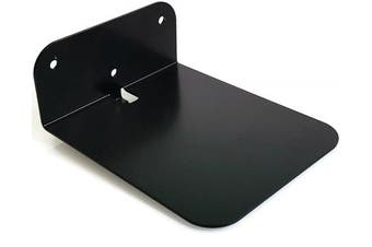 (Black) - Invisible Conceal Floating Book Shelf - Wall Mounted Metal Storage - Creative Book Display Black