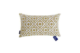 "(12""X20""(30X50cm), Mina Emb Yellow Ochre) - Aitliving Bolster Pillow Covers Mustard Gold Yellow Cushion Covers Patterned with Trellis 12x20 inches(30x50cm) 1pc of Mina Bolster Cushion Covers Yellow Ochre for Sofa and Bed"
