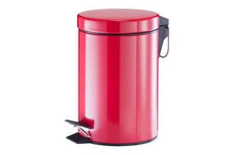 (Red, 17 x 17 x 26 cm) - Zeller Pedal Bin 3L in red, 17 x 17 x 26 cm