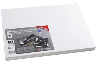 Clairefontaine Foam Boards, 5mm, A3, 5 sheets - White