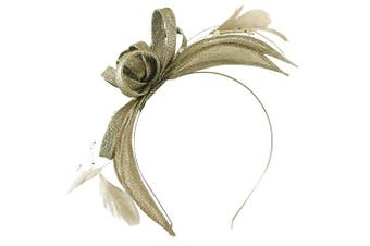 (Carbon-Silver) - Failsworth Millinery Sinamay Fascinator