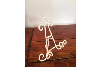 White Iron Easel 15cm Holder Display Artwork Picture Canvas Menu Book Plate Stand Hobbie Craft AA-17
