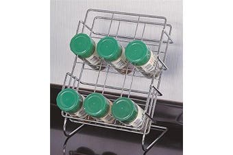 Rocky Mountain Goods Spice Rack for Countertop or inside Cabinets - Holds up to standard size spice jars - Organise and easy access to your spices