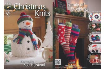 King Cole Christmas Knits Knitting Book Double Knitting Patterns by King Cole