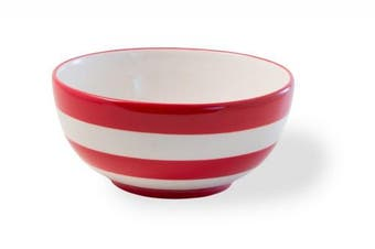 Celebrate the Home KAC18460 Ceramic, Bowl, Americana Red and White Stripes