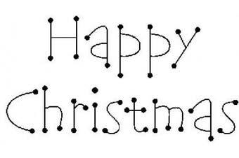 (Happy Christmas) - Art Stamps Dot Happy Christmas Stamp, Black