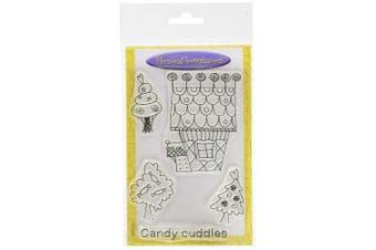 (Candy Town Lollipop House) - Art Stamps A6 Jill Taylor Candy Town Lollipop House Stamp