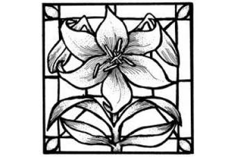 Art Stamps Glass Lily Stained Stamp